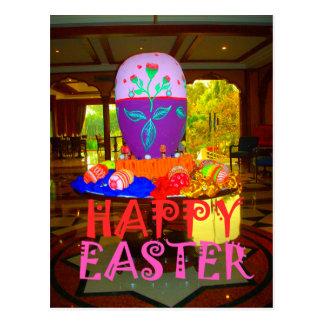 Colores felices de Pascua Tarjeta Postal