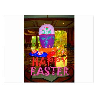 Colores felices de Pascua Tarjetas Postales