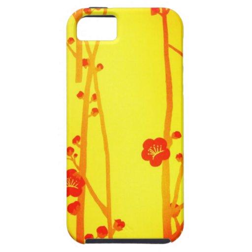 Colores florales rojos de Digitaces del arte abstr iPhone 5 Case-Mate Cobertura