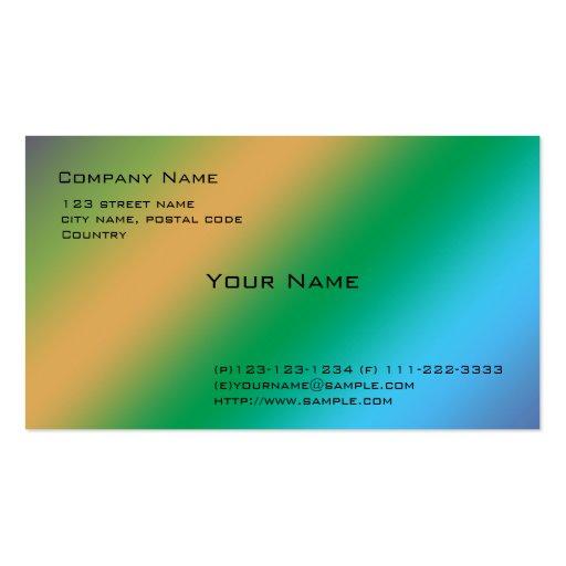 colores frescos generales tarjetas de visita