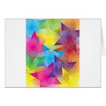 Colores frescos tarjeta