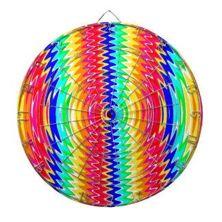 colores fuertes, ondas, ambiente tablero de dardos