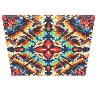 Colores geométricos adornados impresión en lienzo