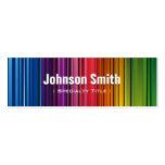 Colores hermosos del arco iris - colorido contempo plantilla de tarjeta de visita