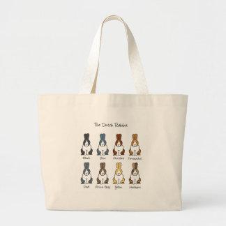 Colores holandeses del conejo bolsas de mano