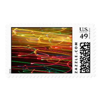 Colores horizontales abstractos sellos
