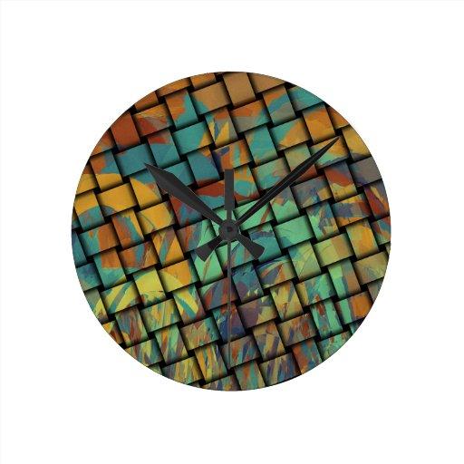 Colores intrépidos en la armadura relojes de pared