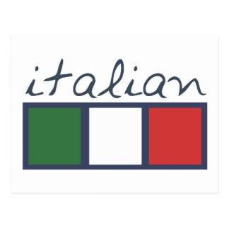 ¡Colores italianos de la bandera! Tarjeta Postal