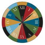 Colores italianos elegantes del modelo geométrico relojes de pared