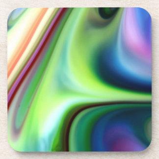 Colores líquidos posavasos de bebida