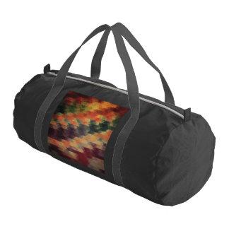 Colores llevados rayas intrépidas geométricas bolsa de deporte