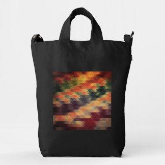 Colores llevados rayas intrépidas geométricas bolsa de lona duck