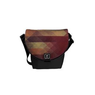 Colores llevados rayas intrépidas geométricas bolsa de mensajería