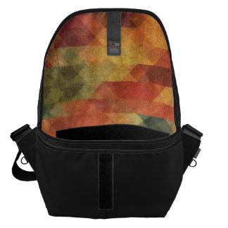 Colores llevados rayas intrépidas geométricas bolsa de mensajeria
