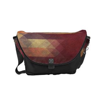 Colores llevados rayas intrépidas geométricas bolsa messenger