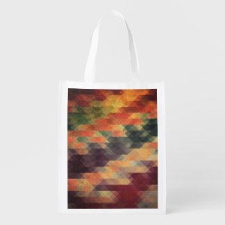 Colores llevados rayas intrépidas geométricas bolsa para la compra