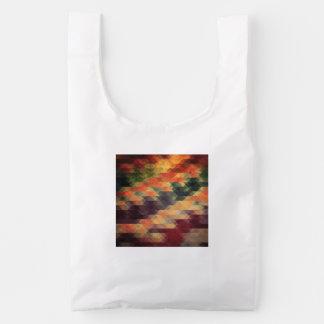 Colores llevados rayas intrépidas geométricas bolsa reutilizable