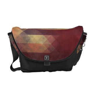 Colores llevados rayas intrépidas geométricas bolsas de mensajería