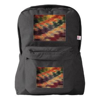 Colores llevados rayas intrépidas geométricas mochila
