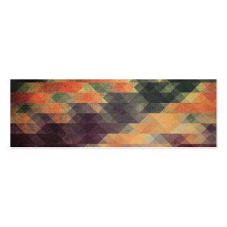 Colores llevados rayas intrépidas geométricas tarjetas de visita mini