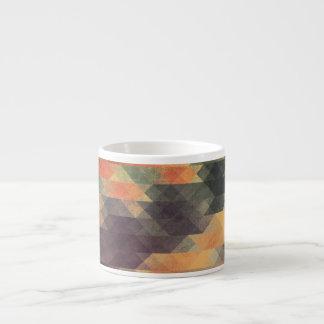 Colores llevados rayas intrépidas geométricas taza espresso