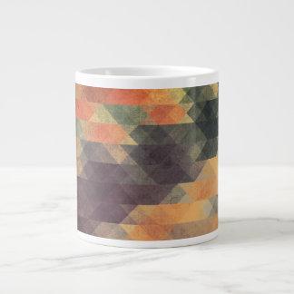 Colores llevados rayas intrépidas geométricas taza grande
