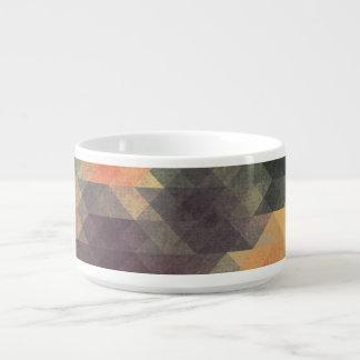 Colores llevados rayas intrépidas geométricas tazón