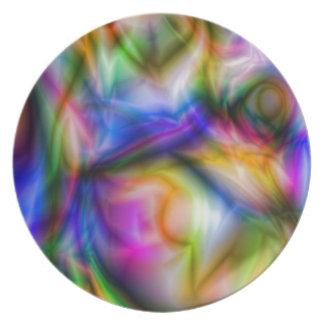 Colores Marbleized Borialus de Arora Platos Para Fiestas