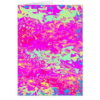 Colores Marbleized brillantes En blanco-Dentro de Tarjeta De Felicitación
