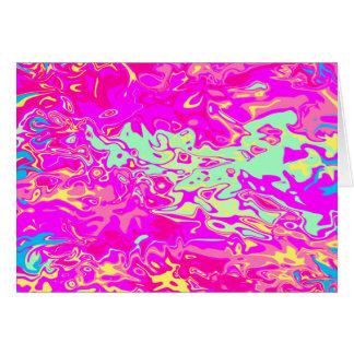 Colores Marbleized brillantes encendido En Tarjeta De Felicitación