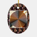 Colores metálicos: La RUEDA cura vibraciones Ornamento Para Arbol De Navidad