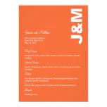 Colores modernos que casan la tarjeta del menú invitación 12,7 x 17,8 cm