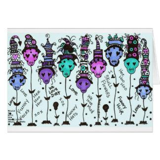 Colores multi de FLoWeRs~ del cráneo - modificados Tarjetón