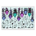 Colores multi de FLoWeRs~ del cráneo - modificados Tarjeta De Felicitación