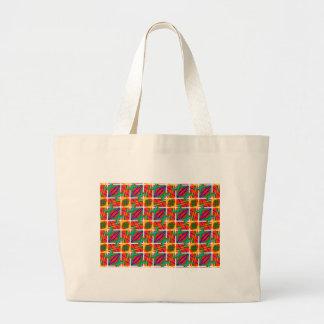 Colores múltiples bolsa tela grande