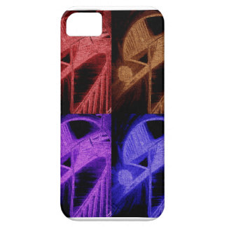 colores nerviosos vibrantes funda para iPhone 5 barely there