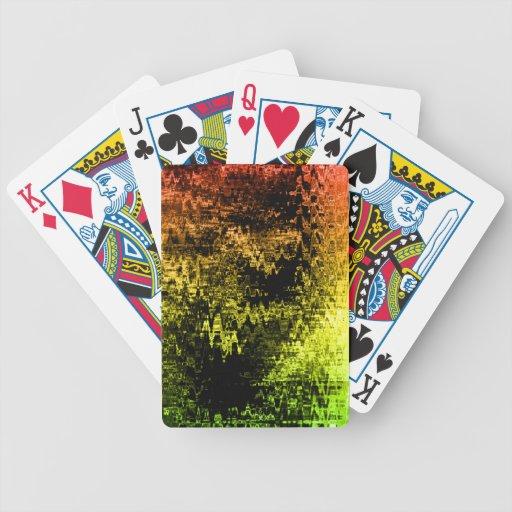 Colores ondulados barajas de cartas