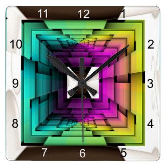 Colores ópticos reloj cuadrado