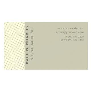 Colores pálidos suaves encantadores del filo tarjetas de visita