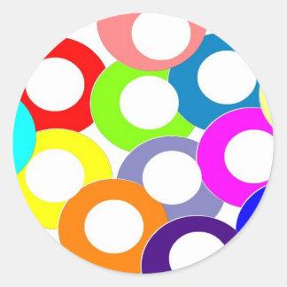 colores pegatina redonda