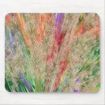 Colores plumosos tapetes de raton