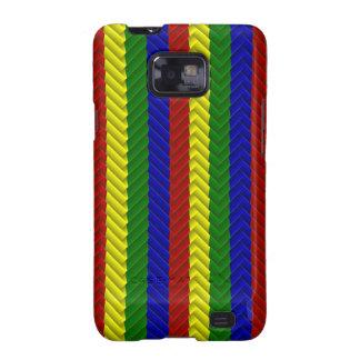 Colores primarios, caja de la Raspa de Samsung Galaxy SII Carcasas