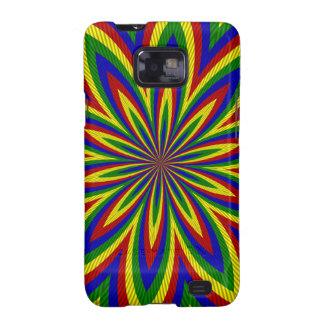 Colores primarios, caja rodada de la flor 2-Galaxy Samsung Galaxy SII Funda