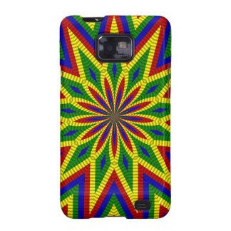 Colores primarios, caja rodada de la flor 3-Galaxy Samsung Galaxy SII Fundas