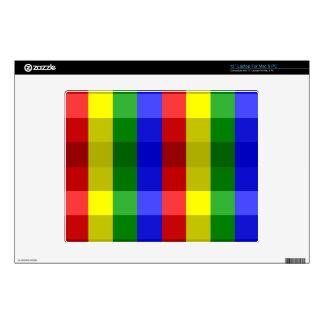 Colores primarios Checks-12 en piel del ordenador Skins Para Portátil
