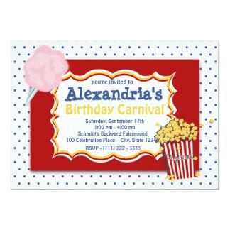 """Colores primarios del cumpleaños del carnaval invitación 5"""" x 7"""""""