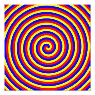 Colores primarios Espiral brillante y colorido Invitación