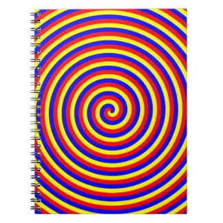 Colores primarios. Espiral brillante y colorido Cuaderno