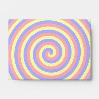 Colores primarios. Espiral brillante y colorido