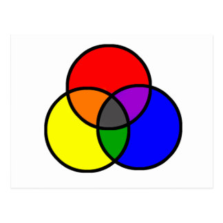 Colores primarios tarjeta postal